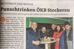 Punschtrinken 2017 Bezirksblatt 23. Februar 17